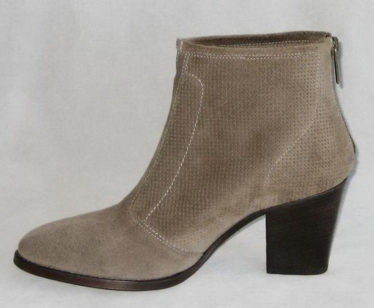 Aquatalia Made In Italy Suede Ankle Ankle Khaki Boots Image 3