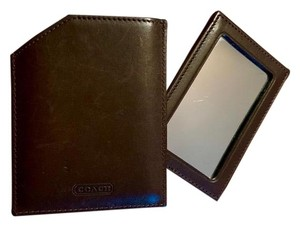 Coach Coach Mirror with Leather Case