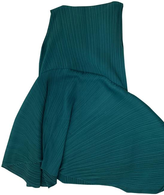 Item - Green Pleats Please Mid-length Cocktail Dress Size 4 (S)