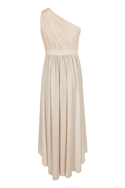 Adrianna Papell Petite Crepe Formal One Shoulder Dress Image 2