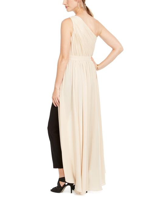 Adrianna Papell Petite Crepe Formal One Shoulder Dress Image 3