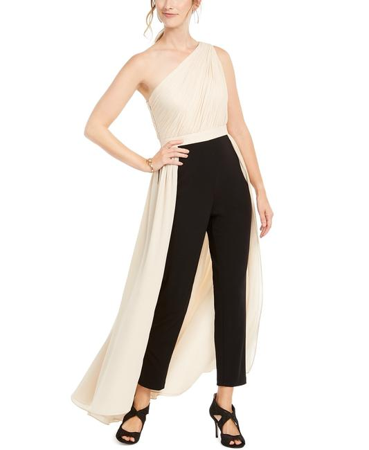 Adrianna Papell Petite Crepe Formal One Shoulder Dress Image 4