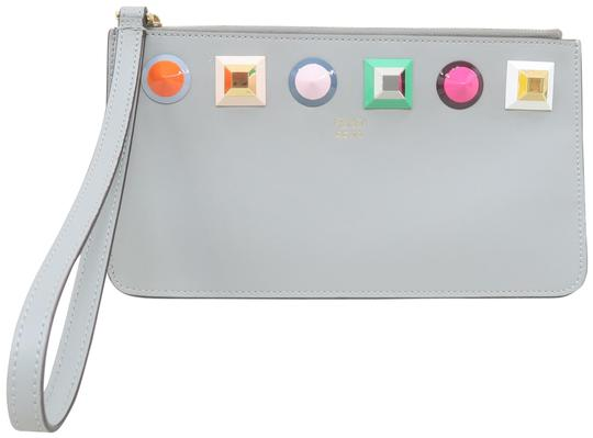 Preload https://img-static.tradesy.com/item/26183397/fendi-multistud-grey-calfskin-leather-clutch-0-1-540-540.jpg