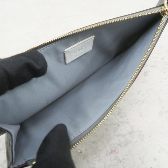 Fendi Multistud Calfskin Grey Clutch Image 10