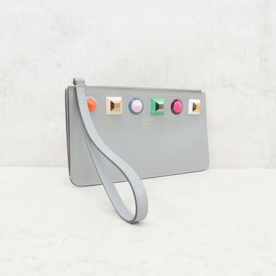 Fendi Multistud Calfskin Grey Clutch Image 4