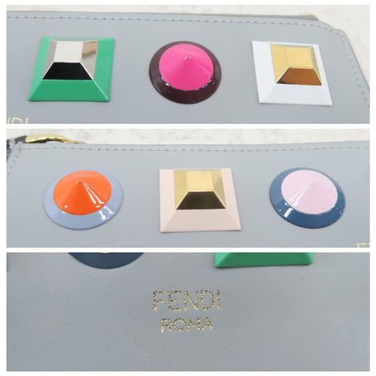 Fendi Multistud Calfskin Grey Clutch Image 8