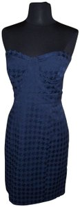 Forever 21 Strapless Houndstooth Bustier Date Checkered Dress