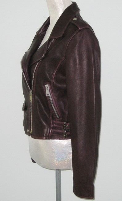 Amaryllis Leather Leather Moto Moto Motorcycle Jacket Image 1