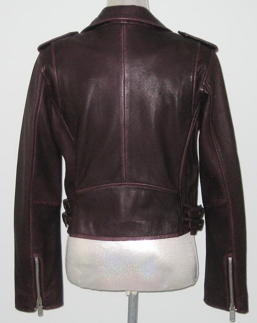 Amaryllis Leather Leather Moto Moto Motorcycle Jacket Image 2