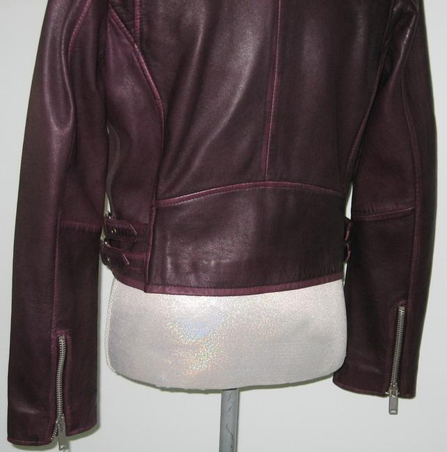 Amaryllis Leather Leather Moto Moto Motorcycle Jacket Image 3