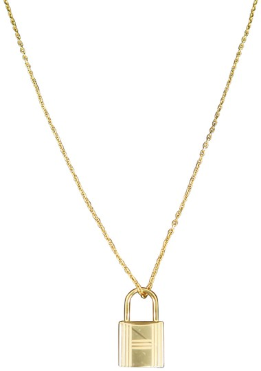 Hermès Hermès Yellow Gold Kelly Cadenas Amulette Pendant Necklace Image 0
