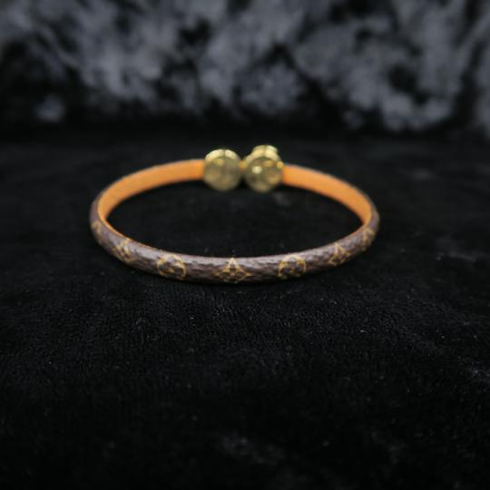 Louis Vuitton Louis Vuitton Brown Monogram Wrap Bracelet Image 4