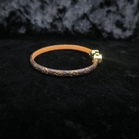 Louis Vuitton Louis Vuitton Brown Monogram Wrap Bracelet Image 7