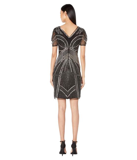 Adrianna Papell Art Deco Beaded Sheath Fringe Gatsby Dress Image 4