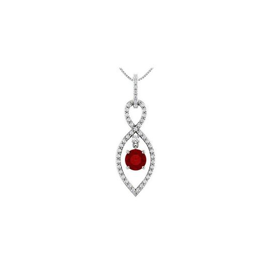 Preload https://img-static.tradesy.com/item/26183529/red-diamond-infinity-inspired-pendant-in-14k-white-gold-with-natural-ruby-necklace-0-0-540-540.jpg
