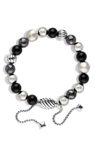 David Yurman Sterling silver David Yurman DY Elements Spiritual Beads Onyx bracelet