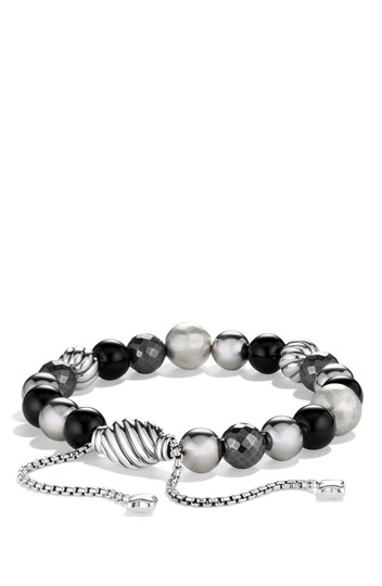 David Yurman Sterling silver David Yurman DY Elements Spiritual Beads Onyx bracelet Image 2