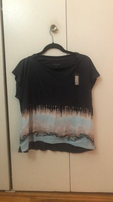 AllSaints Top black with pink and blue Image 1
