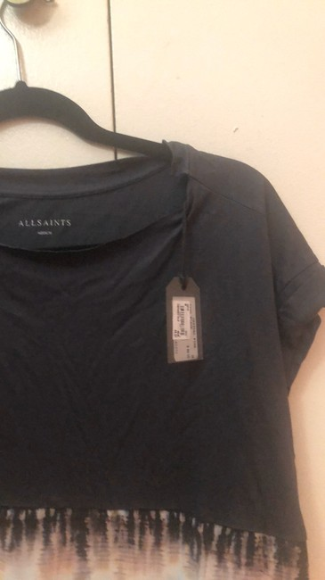 AllSaints Top black with pink and blue Image 3