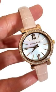 Michael Kors NEW NWT Women's Sofie Rose Gold-Tone and Blush Leather Watch MK2715