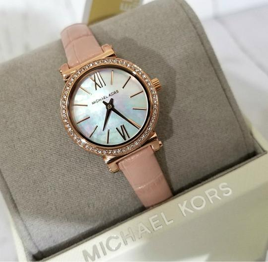 Michael Kors NEW NWT Women's Sofie Rose Gold-Tone and Blush Leather Watch MK2715 Image 1