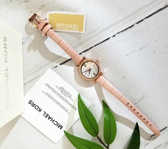 Michael Kors NEW NWT Women's Sofie Rose Gold-Tone and Blush Leather Watch MK2715 Image 10