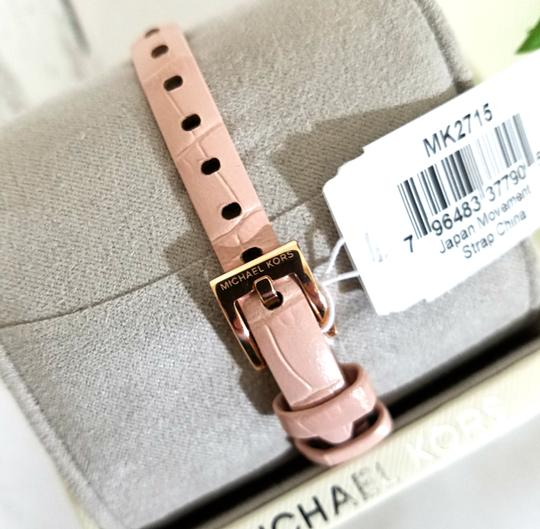 Michael Kors NEW NWT Women's Sofie Rose Gold-Tone and Blush Leather Watch MK2715 Image 8