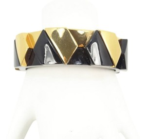 Tory Burch Tory Burch Connor Wide Hexagonal Bangle Bracelet Black Gold NEW WITH TAGS