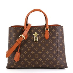 Louis Vuitton Flower Canvas Tote in Brown