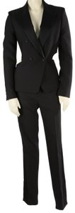Tom Ford TOM FORD Womens Black 2 Piece Cut Out Blazer Pants Suit