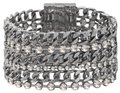 White House | Black Market WHBM multi row chain link & stone bracelet
