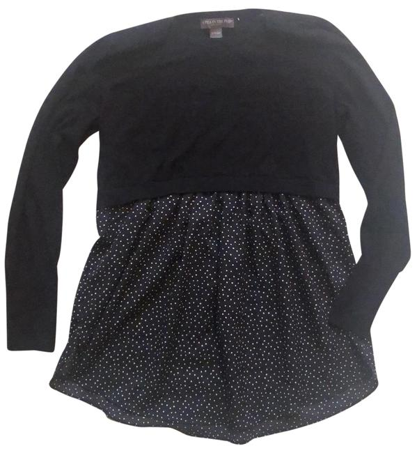 Item - Black Charcoal Dotted Maternity Top Size 2 (XS)