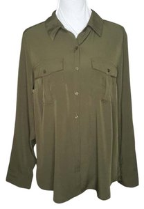 NY Collection Button Down Shirt breen