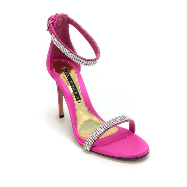 Item - Magenta Satin Crystal Sandals Size EU 38.5 (Approx. US 8.5) Regular (M, B)