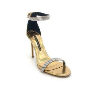 Alexandre Vauthier Gold Metallic Sandals