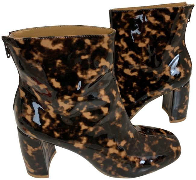 Item - Brown Jagger 51019 Patent Leather Tortoise Square Boots/Booties Size EU 39 (Approx. US 9) Regular (M, B)