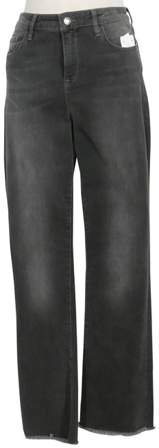 Item - Black High Rise Crop Stretch Straight Leg Jeans Size 31 (6, M)