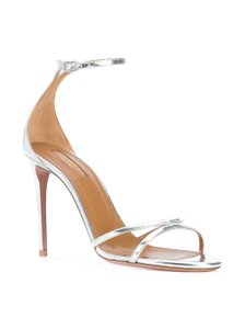 Aquazzura Wedding Formal Stiletto Wedding Silver Sandals