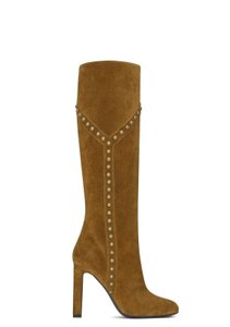 Saint Laurent Women's Suede Brown Boots
