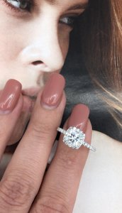 Precious 14k White Gold with 1.71ct. Engagement Ring