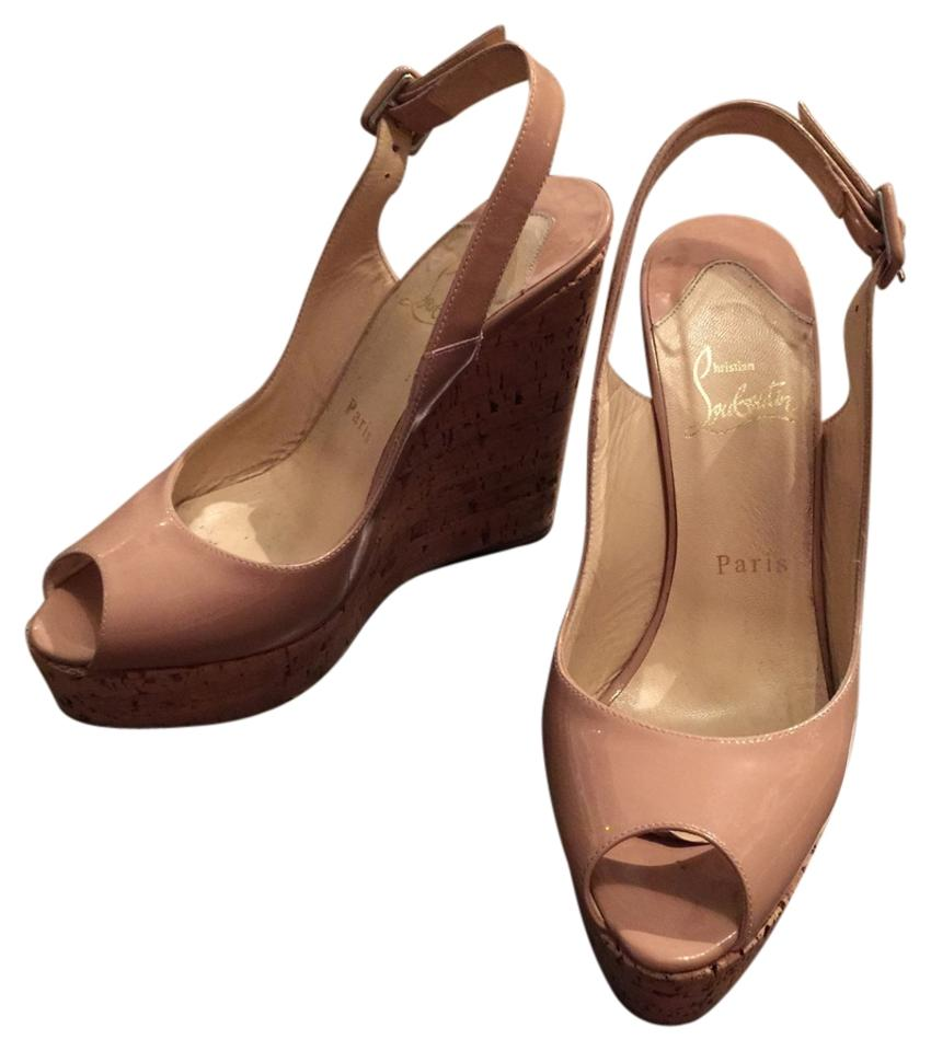 newest 62656 4737e Nude Une Plume Wedges