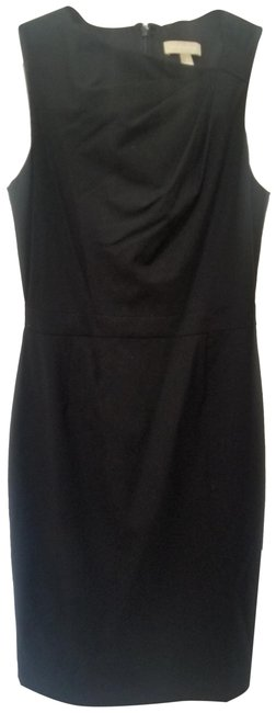 Item - Black Lightweight Wool Mid-length Work/Office Dress Size 4 (S)