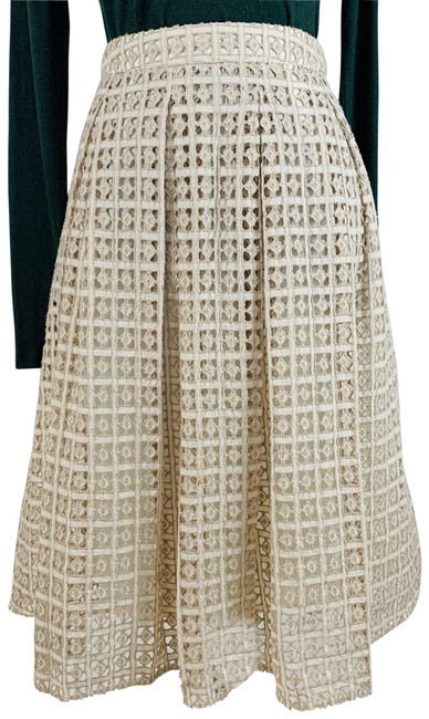 Item - Ivory Eyelet A-line Lined Skirt Size 8 (M, 29, 30)