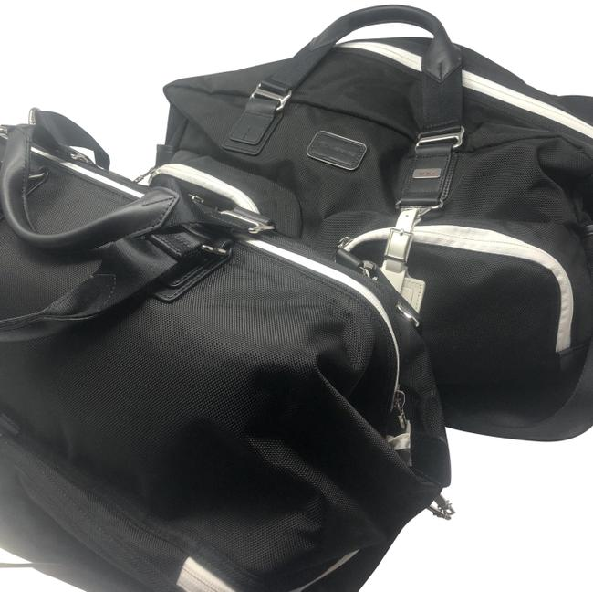 Item - Essential Double Lexus Crafted Line Limited Edition Duffel Black/White Nylon Weekend/Travel Bag