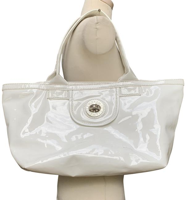 Item - Large White Patent Leather Tote
