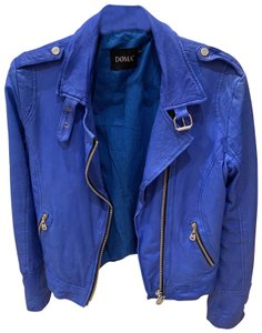 DOMA blue Leather Jacket