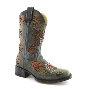 Corral Boots Embroidered Lucchese Cowboy Old Gringo Freebird Distressed Black Boots