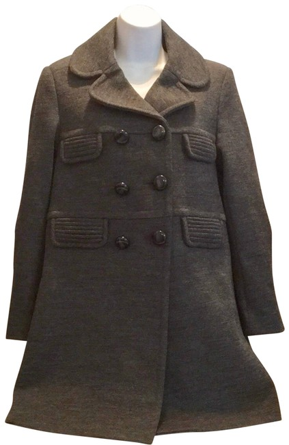 Item - Charcoal Gray Black Buttons Like New Lined Coat Size 12 (L)