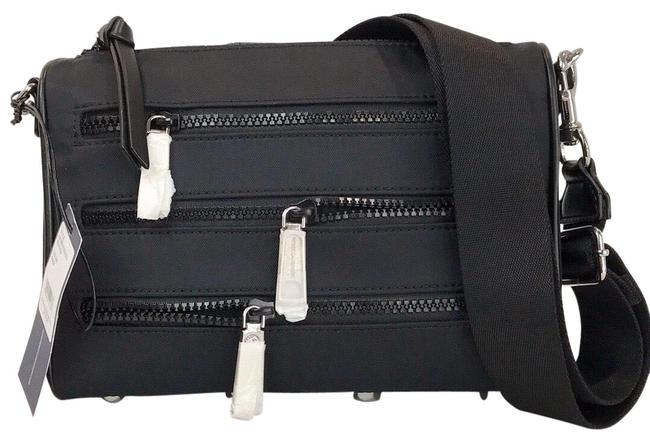 Item - Crossbody Solstice Mini 5 Zip Black Nylon Messenger Bag