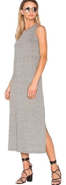 Item - Gray The Perfect Muscle Tee Mid-length Casual Maxi Dress Size 4 (S)